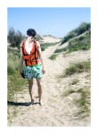 Beach House: Theo Hall in Green Floral Trunks