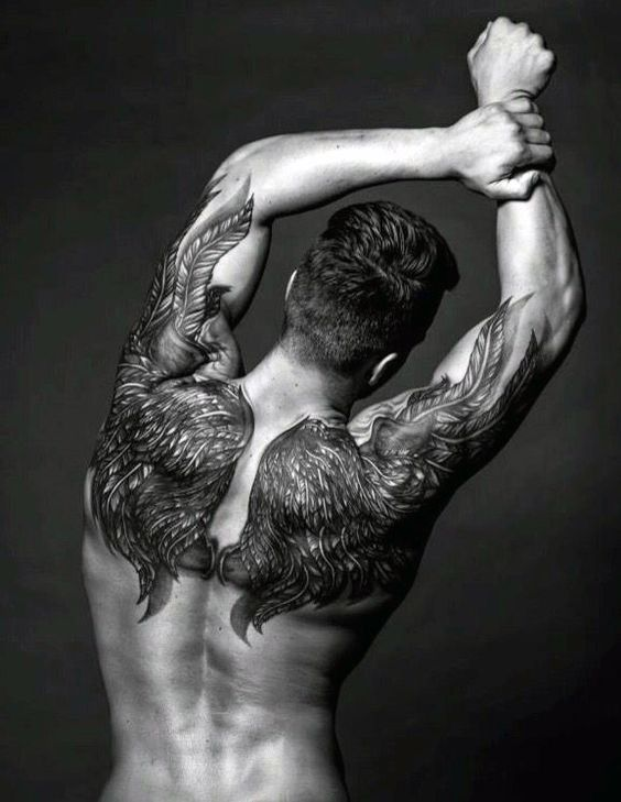 Angel Wings Back Shoulder Tattoo Best Tattoo Spots For Men (Gallery)