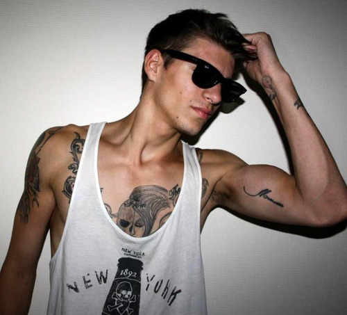 Bicep Tattoo Words Style Inspiration: Bicep Tattoos For Men