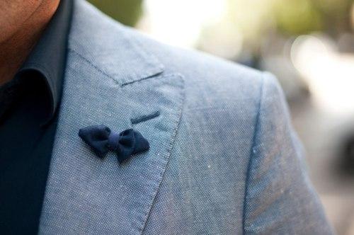 Bowtie Lapel Pin Style Inspiration: Lapel Pin & Buttonhole