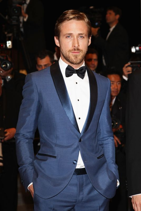 Ryan Gosling Cannes Blue Suit Salvatore Ferragamo Style Profile: Ryan Gosling