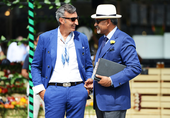 Flower Lapel Pin & Blue Suits, Pitti Uomo