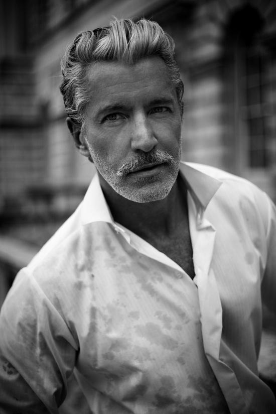 Silver Beard Men Style Inspiration: Stubble & Beard