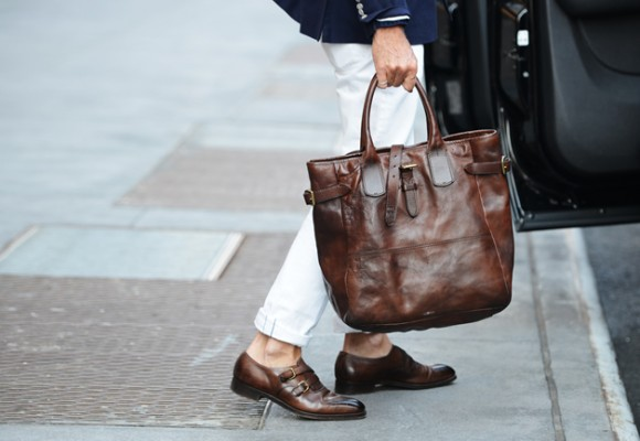 Brown Monks Bag Style Leather Very Classy: Monk Strap