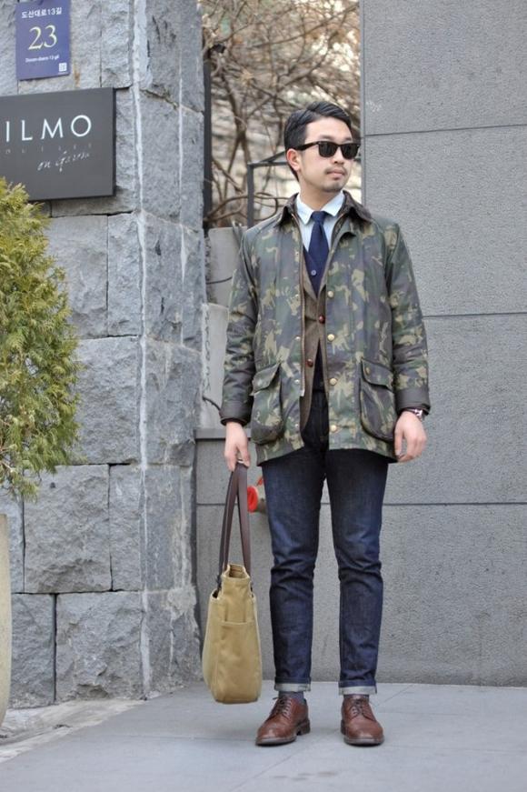 Camo Jacket Jeans Korean Style Inspiration: Camouflage