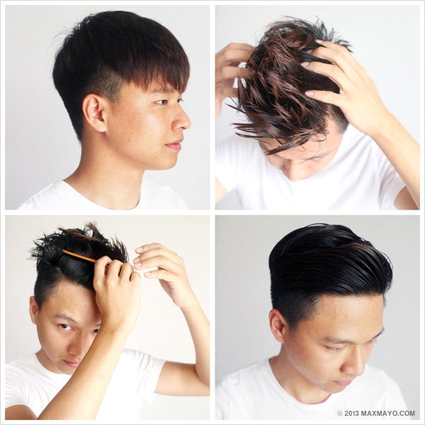 Slicked Back Undercut How To Steps W How To Style Slicked Back Undercut