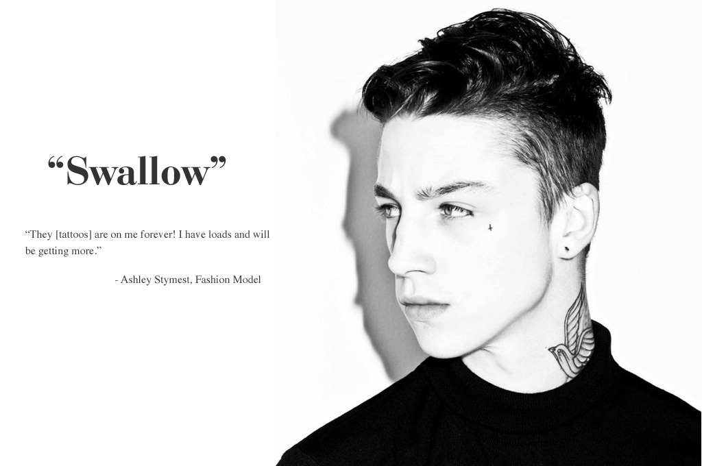 Tattoo Ideas Fashion Male Model Ashley Stymest Swallow 10 Top Male Models & Their Tattoo Stories