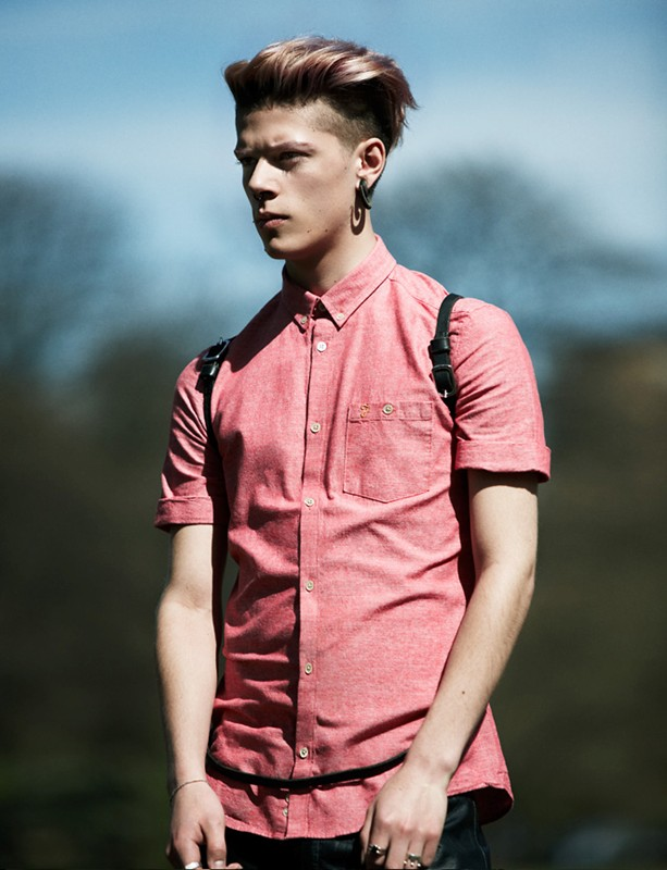 Undercut with hipster dyed top