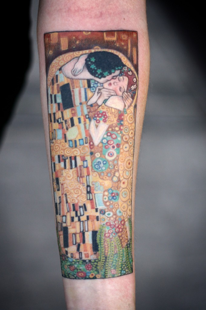 Tattoo Sleeve 50 Classic Art Gustav Klimt The Kiss Tattoo Sleeve: 53 Fashionable Ideas