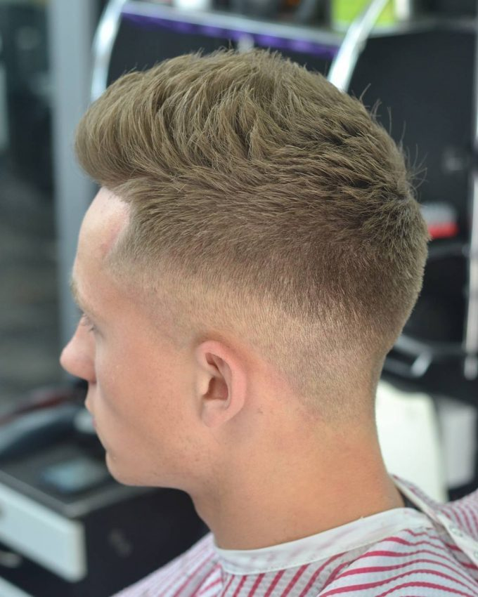 2 Mid Fade With Short Messy Top The Fade Hairstyle: 24 Best Looks & Styles