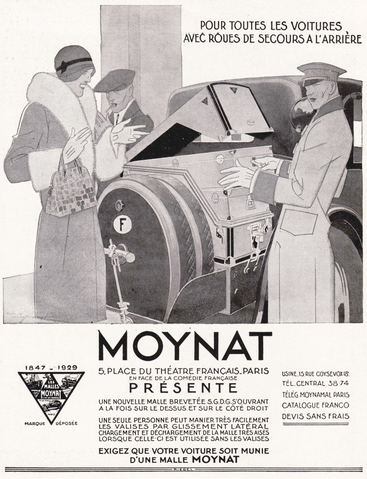 Moynat Advertisement 1929 Moynat Limousine Voyage