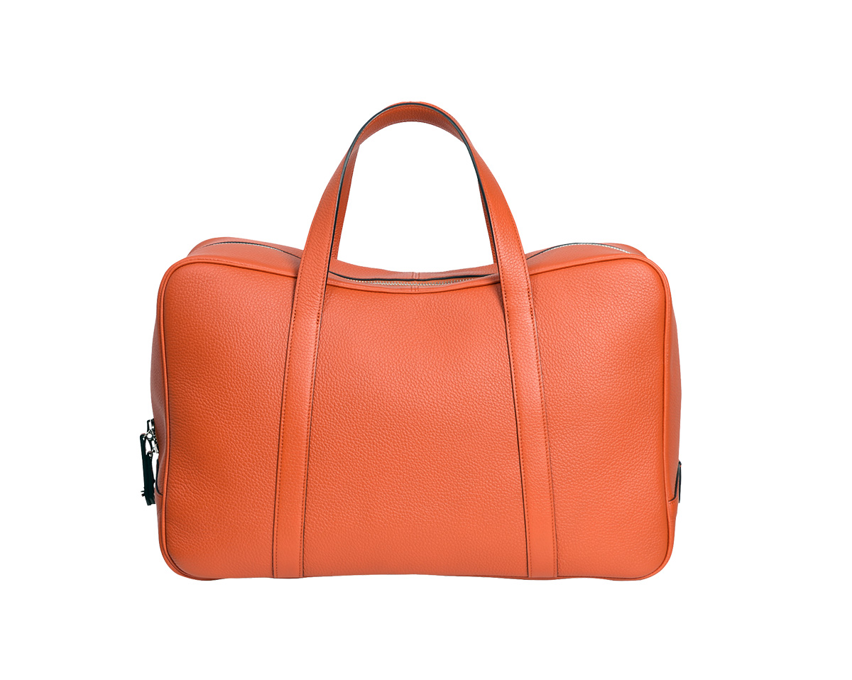 Moynat Men Travel Bag Limousine Voyage In Orange The Classy & Minimalist Leather Sneakers
