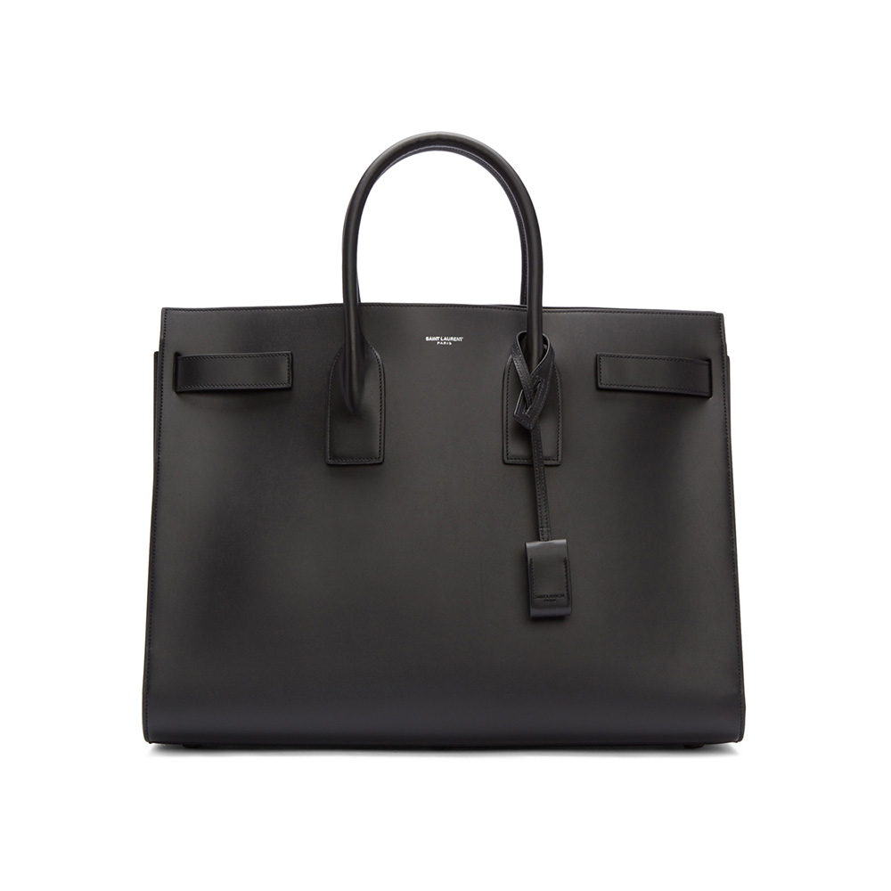 Saint Laurent Men Sac De Jour Tote Saint Laurent Men's Black Sac De Jour Tote
