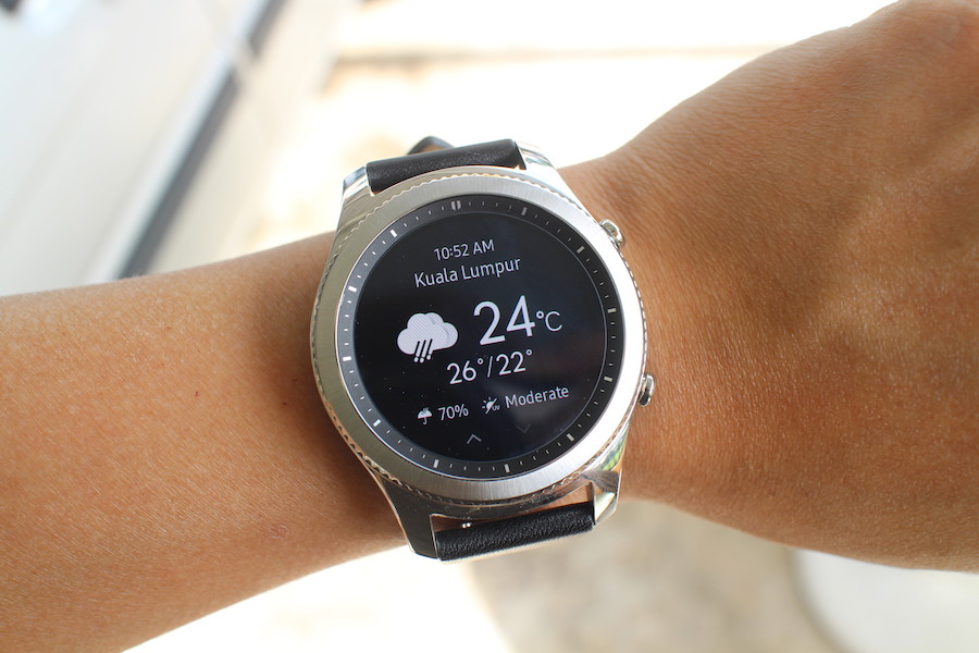 Samsung Gear S3 04 Weather Widget Samsung Gear S3 Classic