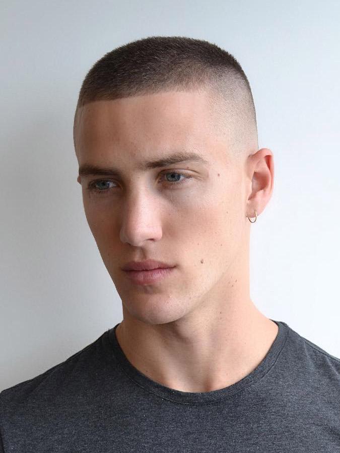 Model Wyatt Caldwell in Butch Cut