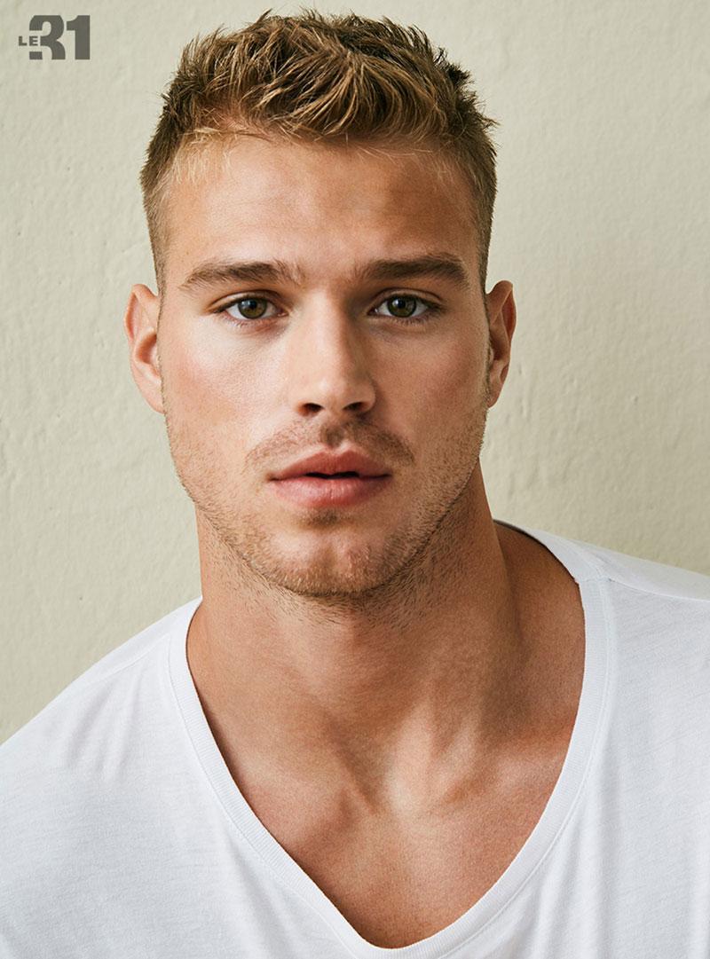 Model Matthew Noszka Crew Cut