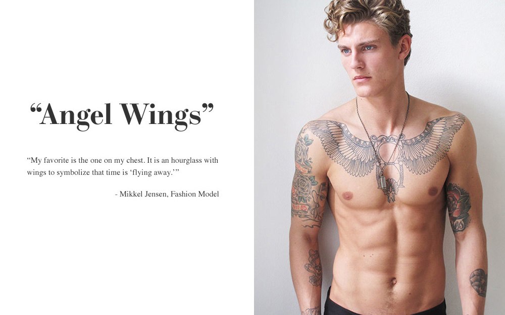 Fashion Tattoo Ideas Male Models 10 Top Male Models & Their Tattoo Stories