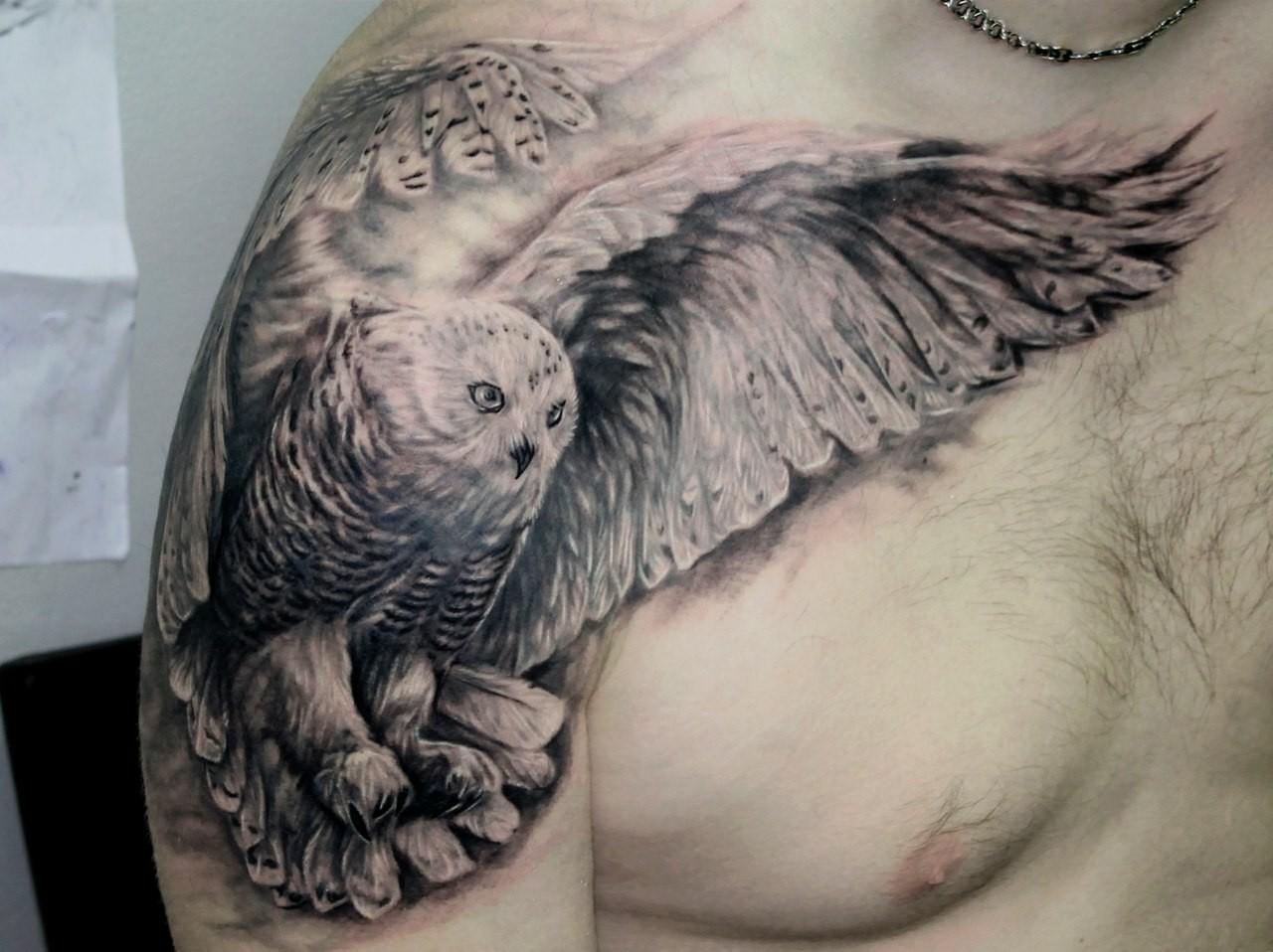 shoulder tattoo ideas owl