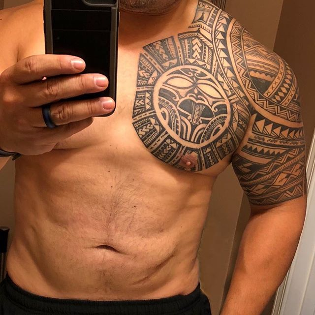 shoulder tattoo ideas polynesian