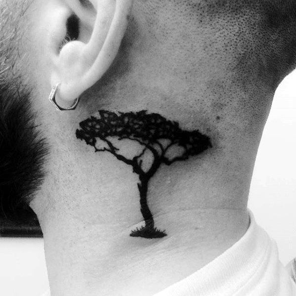 Neck Tattoo Idea Abstract Tree 19 Classy Neck Tattoo Ideas & 46 Examples